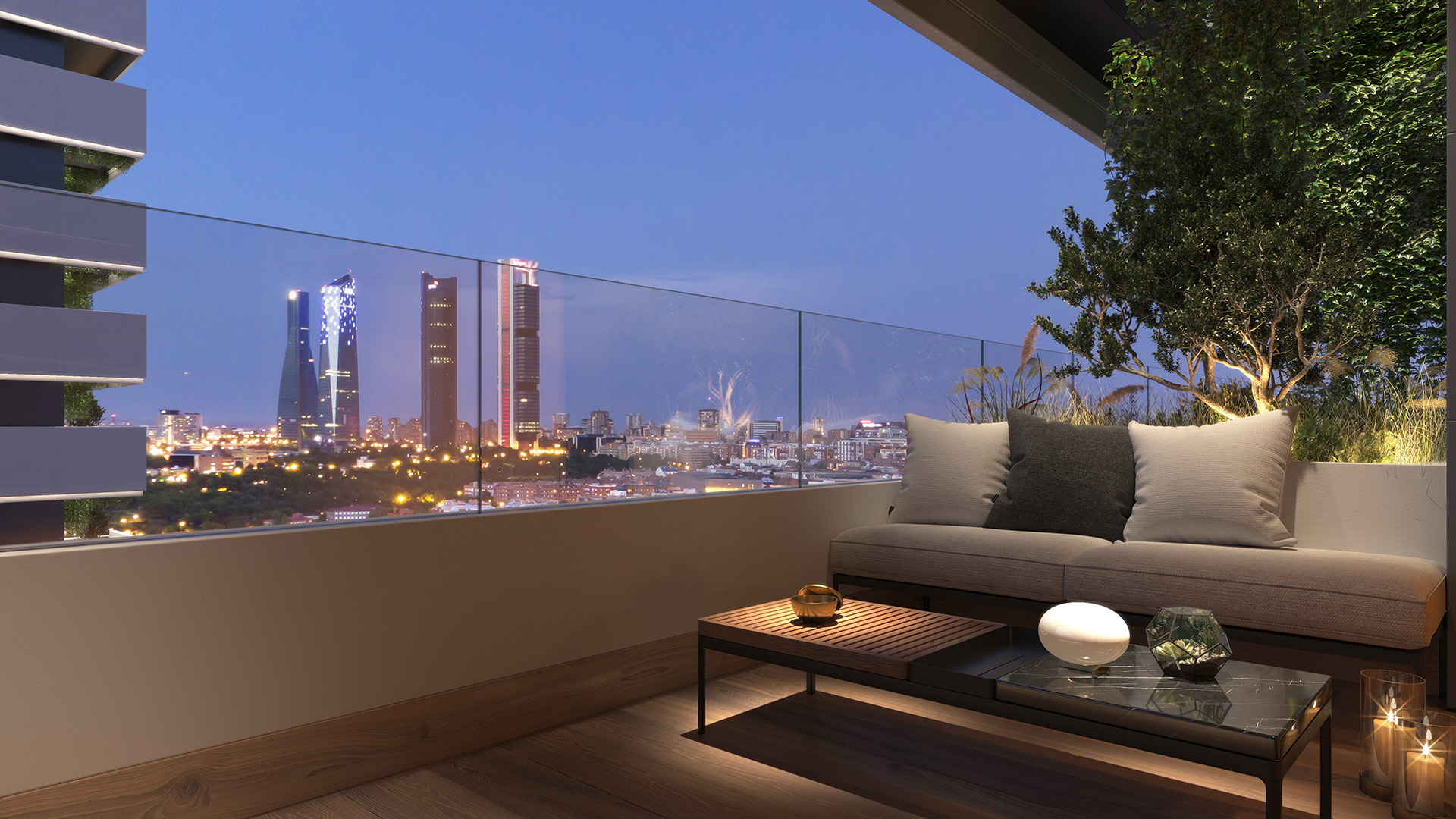 Terrace with panoramic views of Cuatro Torres Business Area