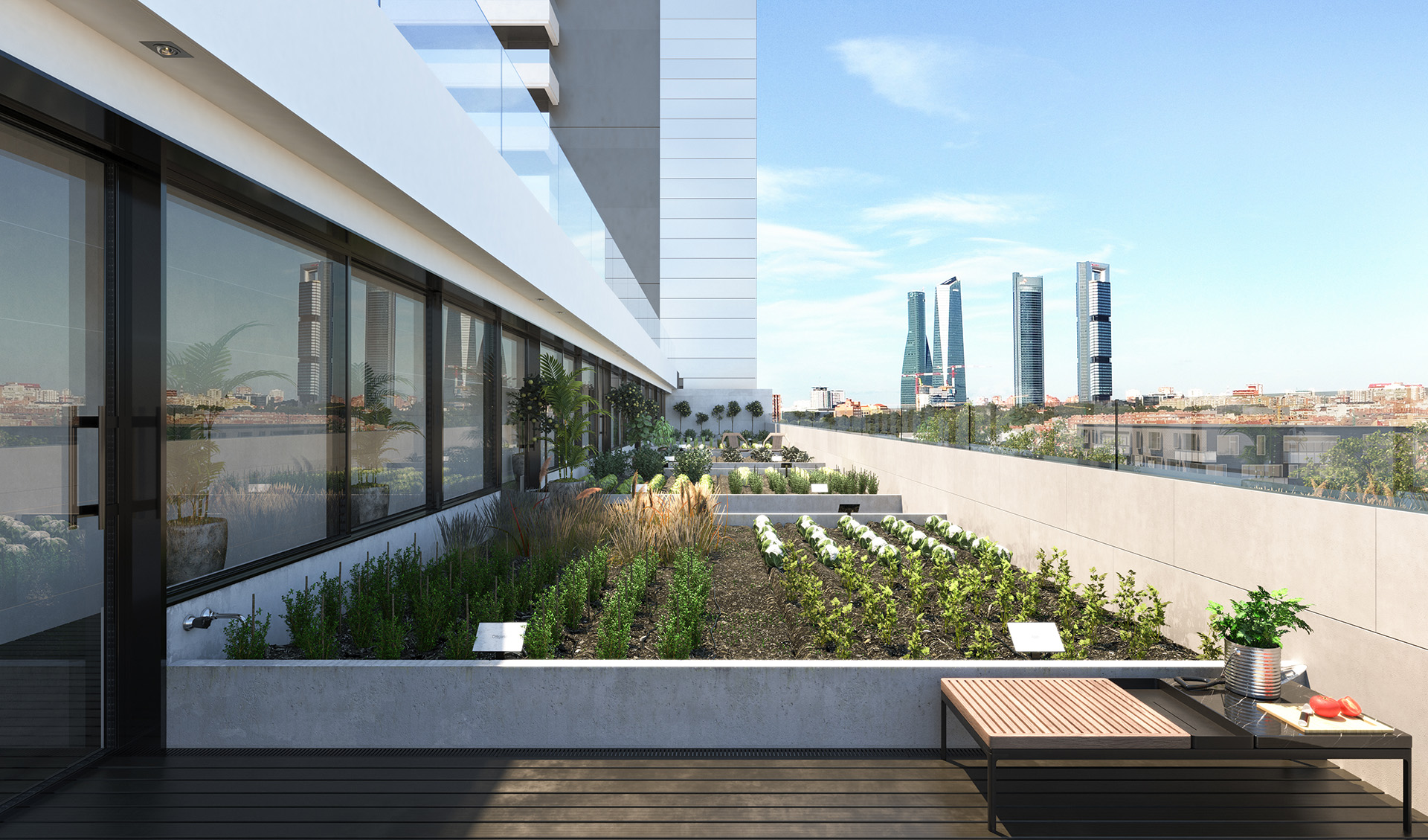 Recreation of Urban Garden on nineth floor