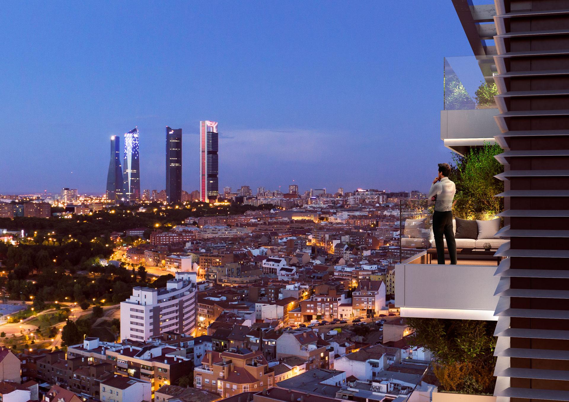 Espectacular terraza con vistas panorámicas de la ciudad